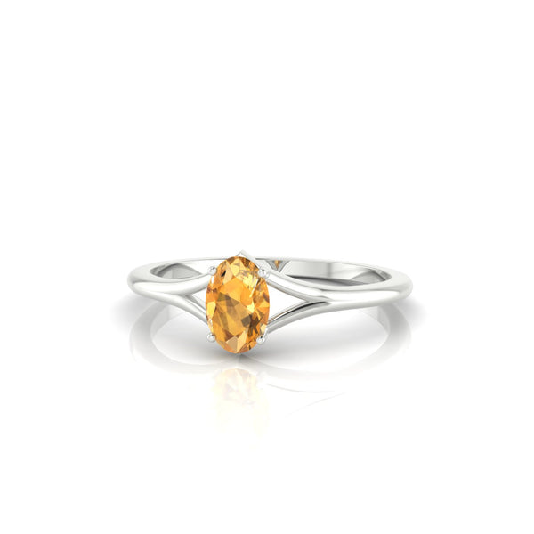Aurore Citrine | Ovale 6 x 4 mm Argent 925