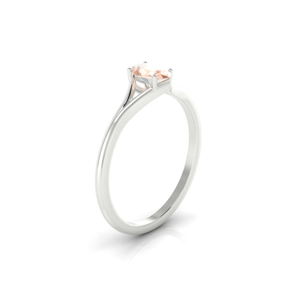 Aurore Morganite | Ovale 6 x 4 mm Argent 925
