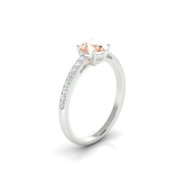 Brigitte Morganite | 6 mm Argent 925 Ronde