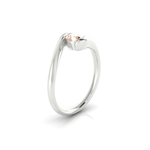 Carlotta Morganite | 4.5 mm Argent 925 Ronde