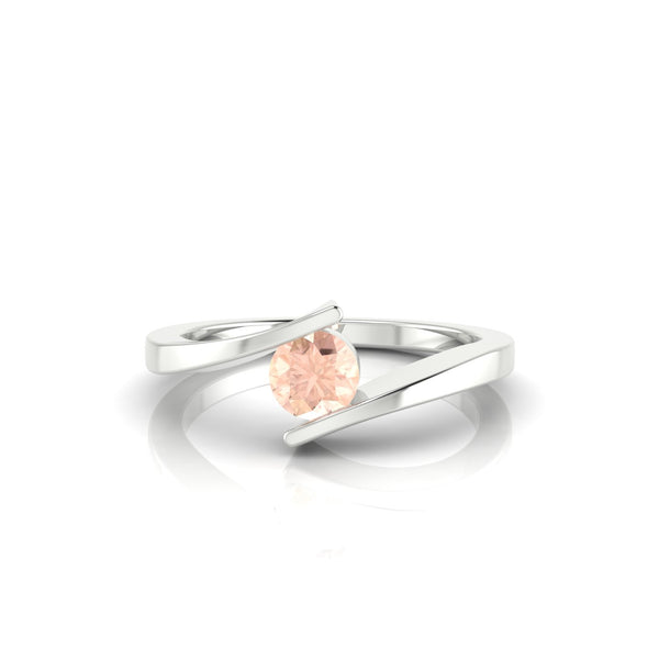 Catalina Morganite | 4.5 mm Argent 925 Ronde