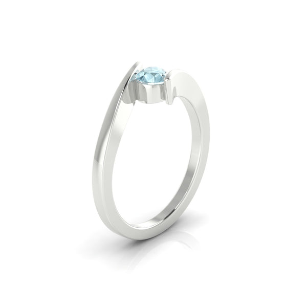 Catalina Aigue-marine | 4.5 mm Argent 925 Ronde