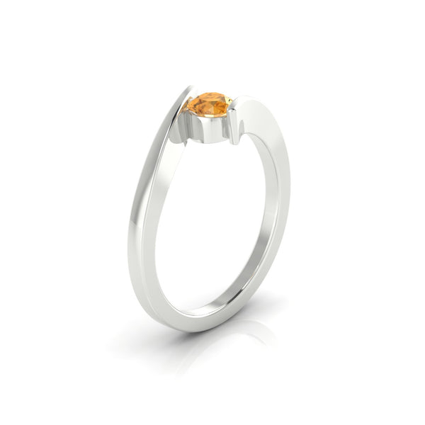 Catalina Citrine | 4.5 mm Argent 925 Ronde