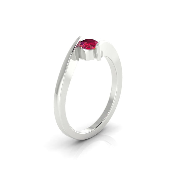 Catalina Rubis | 4.5 mm Argent 925 Ronde