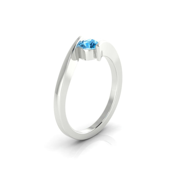 Catalina Topaze | 4.5 mm Argent 925 Ronde