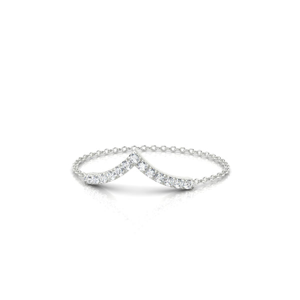 Chaîne Apollon Diamant | 1.1 mm Or Blanc 18k Ronde