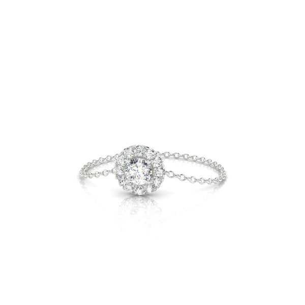 Chaîne Clothilde Diamant | 3 mm Or Blanc 18k Ronde