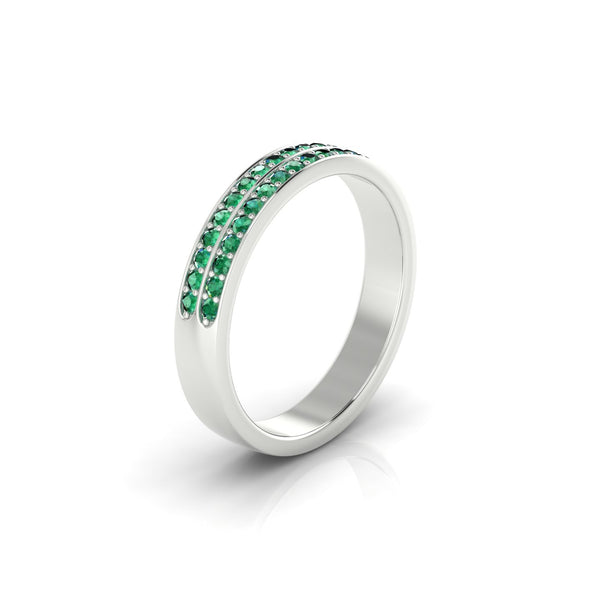 Charmante Emeraude | 1.3 mm Argent 925 Ronde