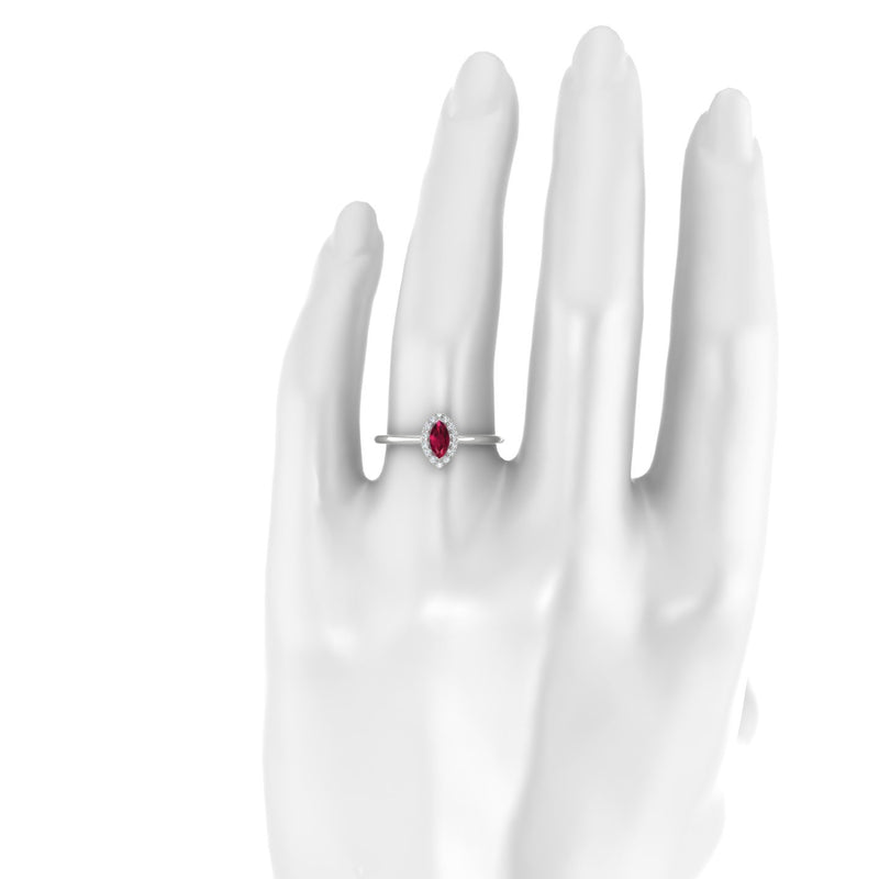 Clothilde Rubis | Marquise 6 x 3 mm Argent 925