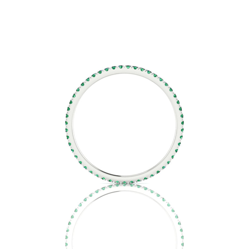 Cohesion Emeraude | Ronde 1.1 mm Argent 925