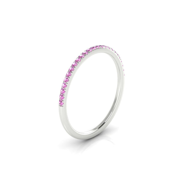 Confidence Saphir rose | 1.1 mm Argent 925 Ronde