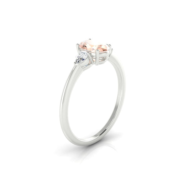 Destiny Morganite | Ovale 7 x 5 mm Argent 925
