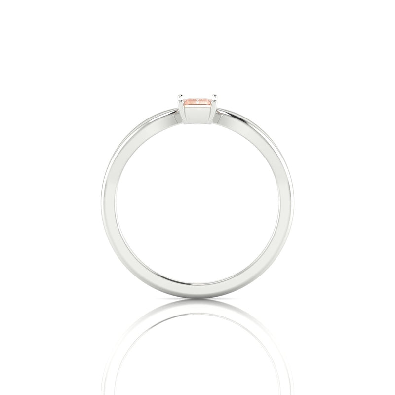 Diana Morganite | Emeraude 6 x 4 mm Argent 925