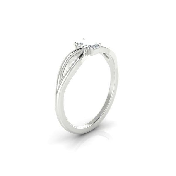Diana Diamant | Emeraude 5 x 3 mm Argent 925