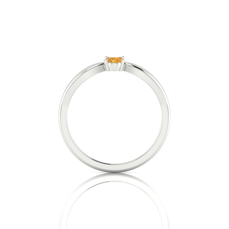 Diana Citrine | Ovale 6 x 4 mm Argent 925