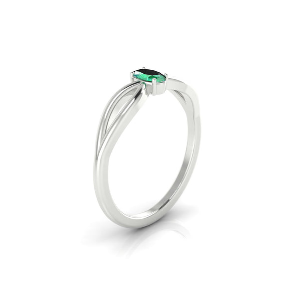 Diana Emeraude | Ovale 5 x 3 mm Argent 925