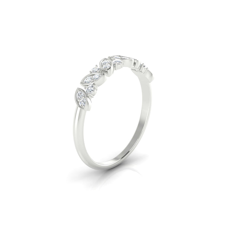 Envoutante Diamant | 1.5 mm Or Blanc 18k Ronde