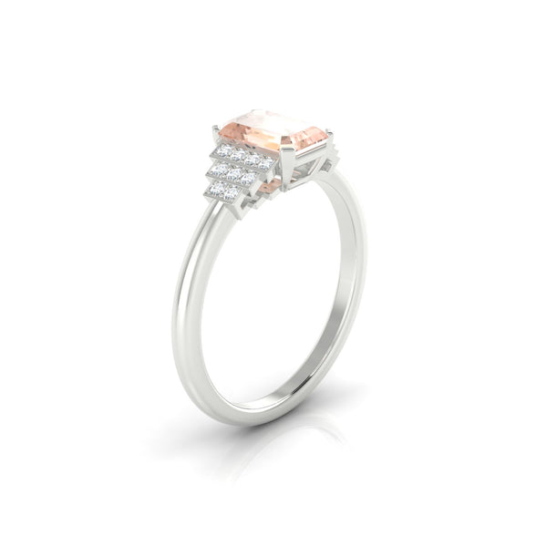 Felicie Morganite | Emeraude 7 x 5 mm Argent 925