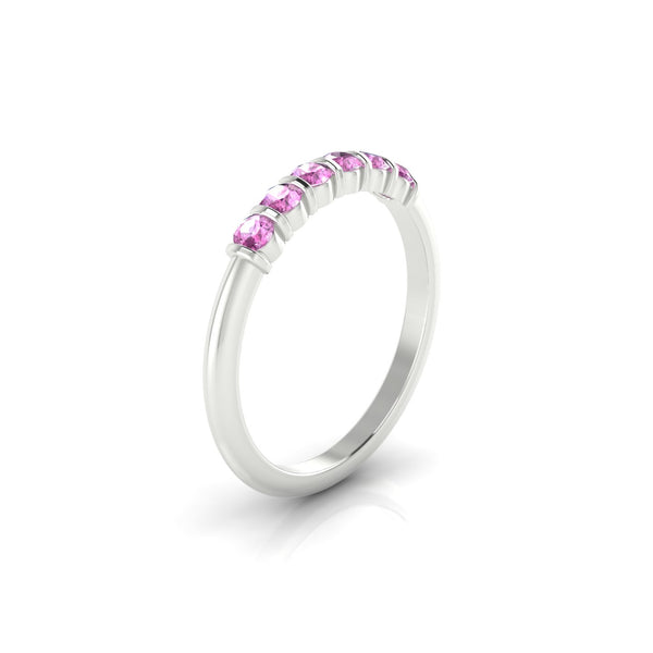 Grandiose Saphir rose | Ronde 2.5 mm Argent 925