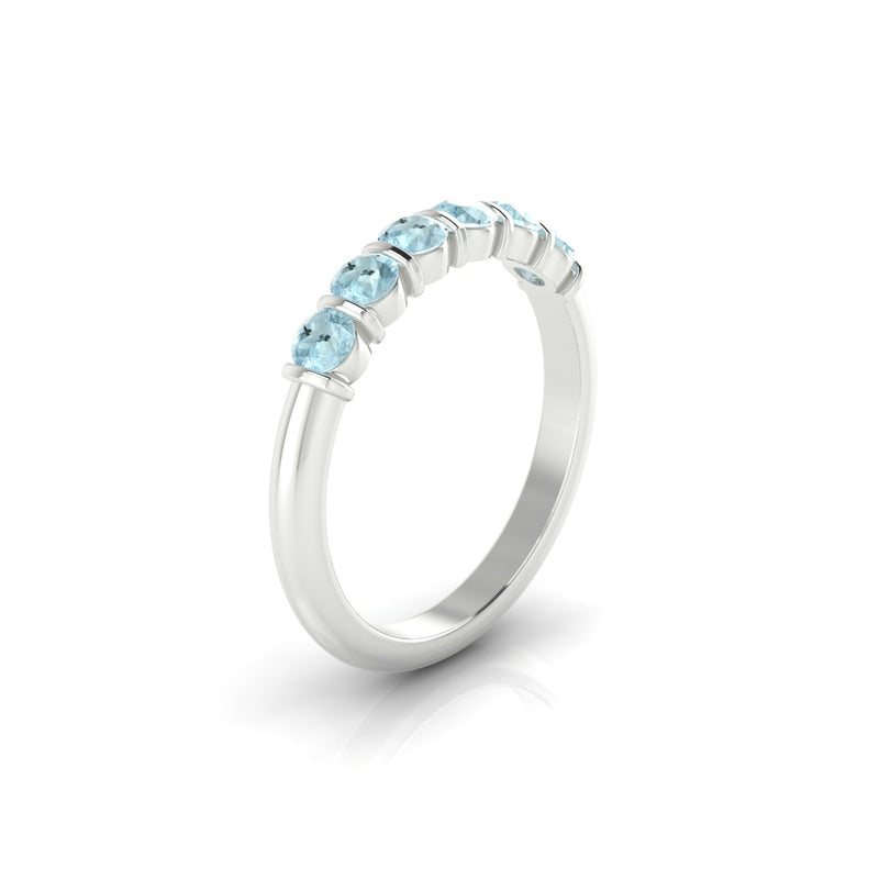 Grandiose Aigue-marine | 3 mm Argent 925 Ronde