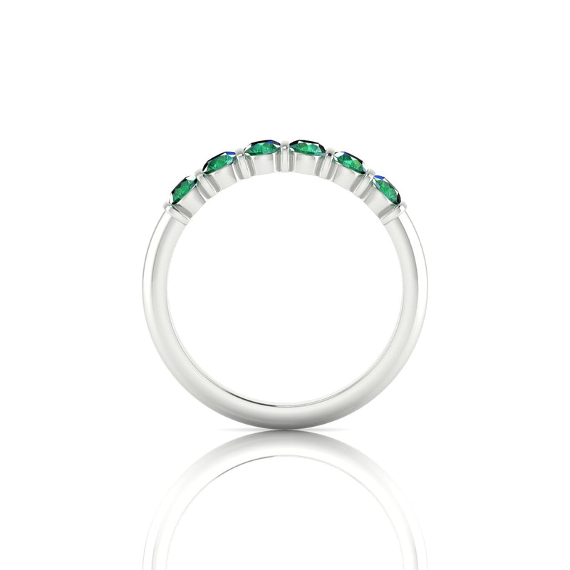 Grandiose Emeraude | 3 mm Argent 925 Ronde
