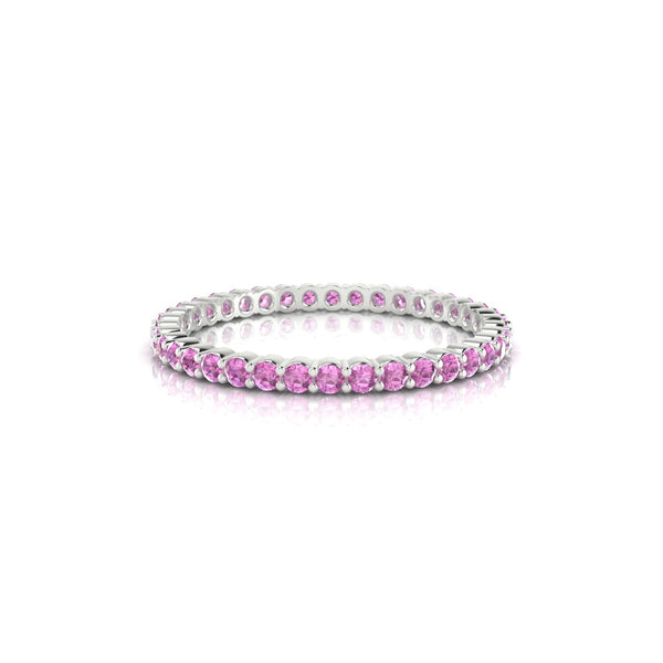 Incandescente Saphir rose | Ronde 1.5 mm Argent 925