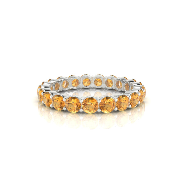 Incandescente Citrine | Ronde 3 mm Argent 925