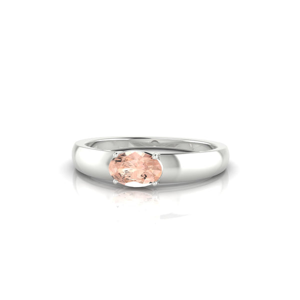 Jeannie Morganite | Ovale 6 x 4 mm Argent 925