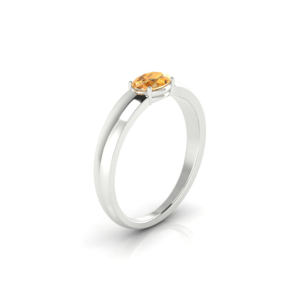 Jeannie Citrine | Ovale 6 x 4 mm Argent 925