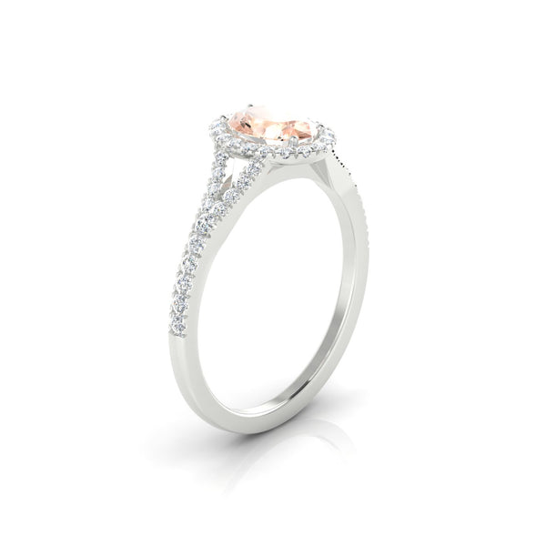 Lucette Morganite | Ovale 7 x 5 mm Argent 925