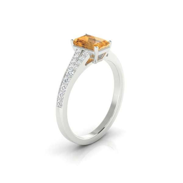 Majestueuse Citrine | Emeraude 7 x 5 mm Argent 925