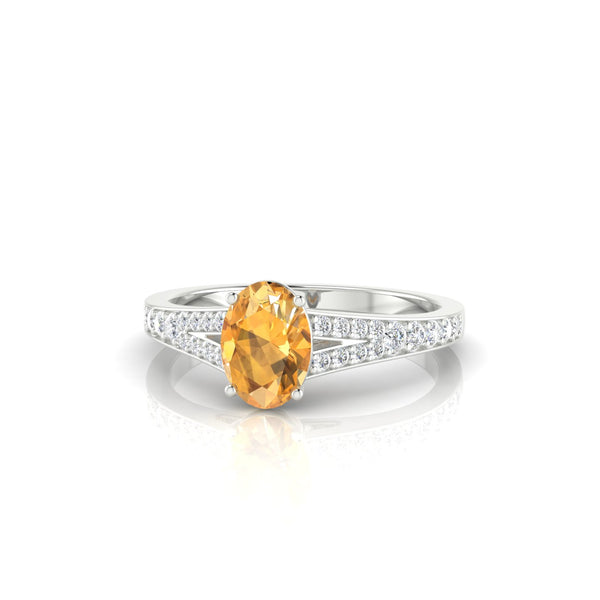Majestueuse Citrine | Ovale 7 x 5 mm Argent 925