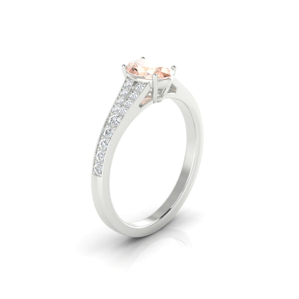 Majestueuse Morganite | Ovale 7 x 5 mm Argent 925