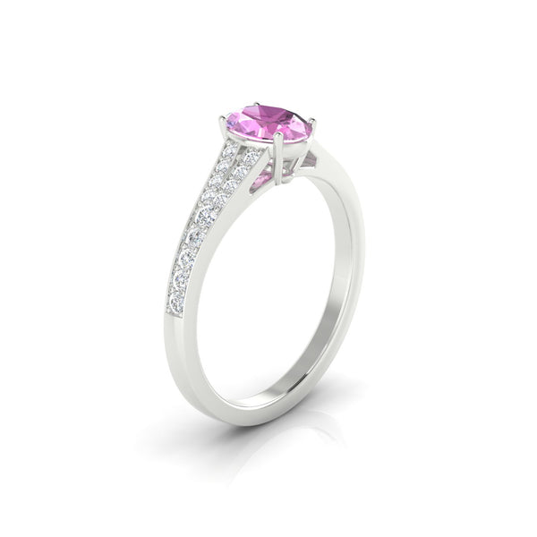 Majestueuse Saphir rose | Ovale 7 x 5 mm Argent 925