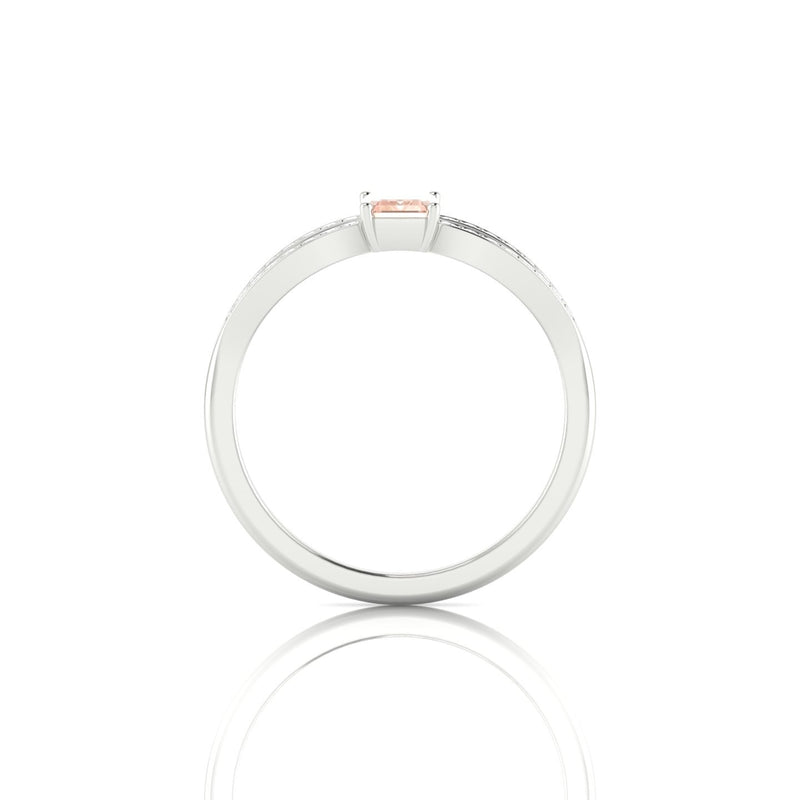 Marianne Morganite | Emeraude 6 x 4 mm Argent 925