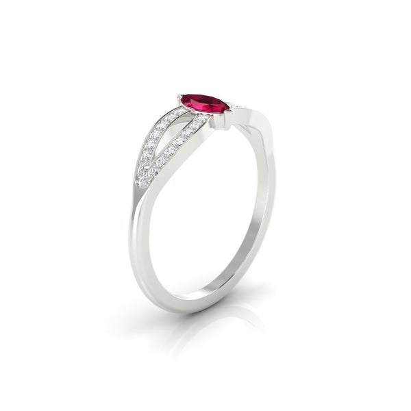 Marianne Rubis | Marquise 6 x 3 mm Argent 925