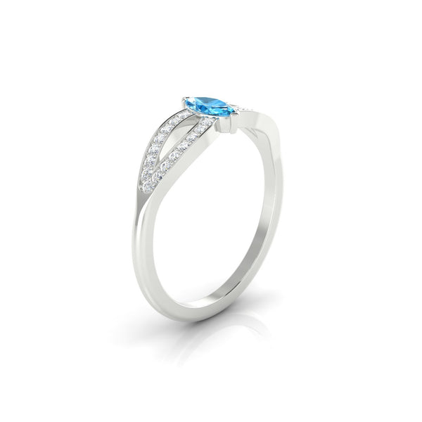 Marianne Topaze | Marquise 6 x 3 mm Argent 925