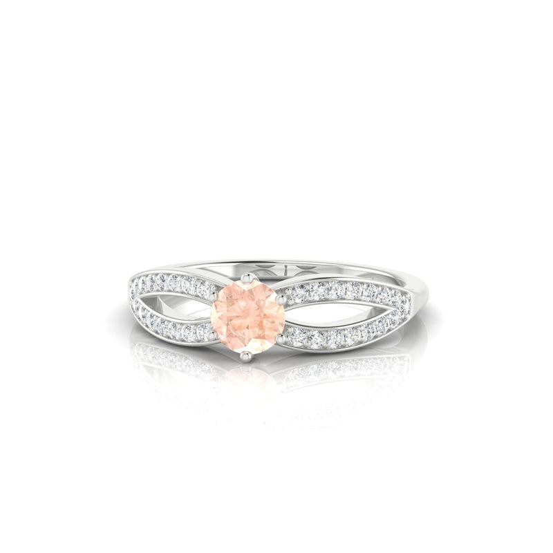 Marianne Morganite | Ronde 4.5 mm Argent 925