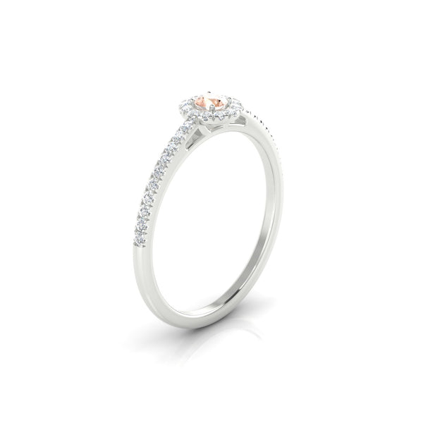 Mariette Morganite | 3 mm Argent 925 Ronde