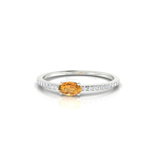 Morphee Citrine | Ovale 5 x 3 mm Argent 925