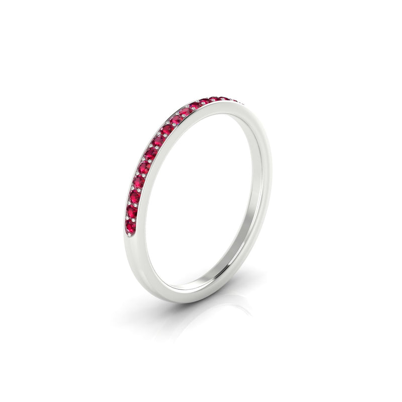 Noces Rubis | 1.3 mm Or Blanc 18k Ronde