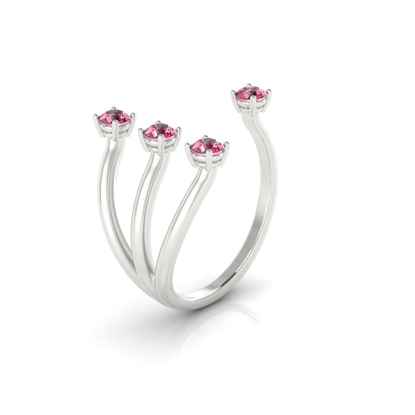 Olympe Tourmaline rose | Ronde 3 mm Argent 925