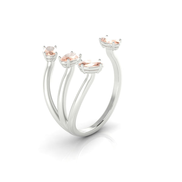 Olympie Morganite | Ovale 5 x 3 mm Argent 925