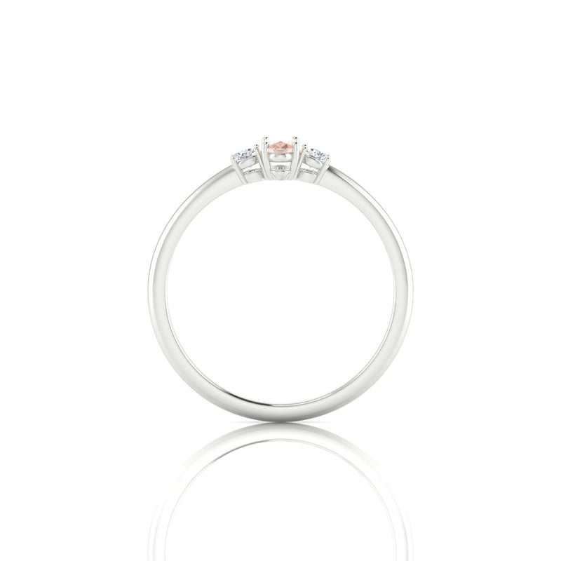 Plaisante Morganite | Ovale 5 x 3 mm Argent 925
