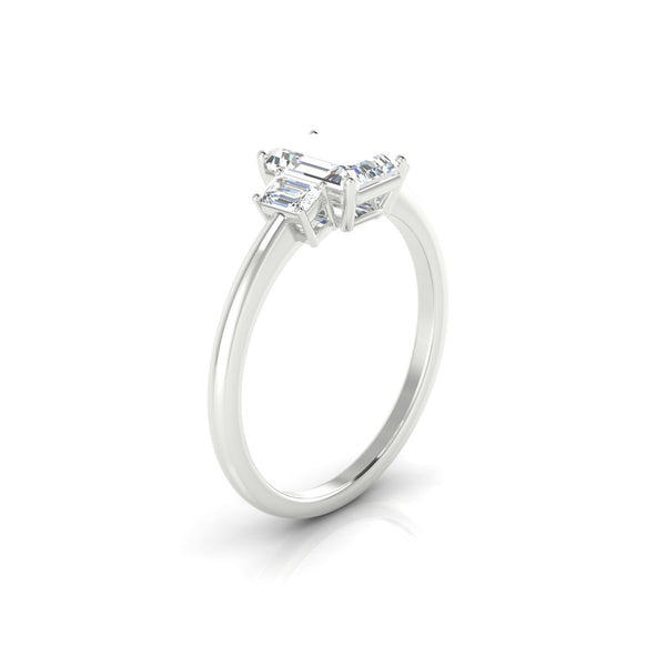Prestige Diamant | Emeraude 7 x 5 mm Argent 925