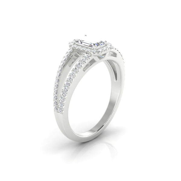 Prodige Diamant | Emeraude 6 x 4 mm Argent 925