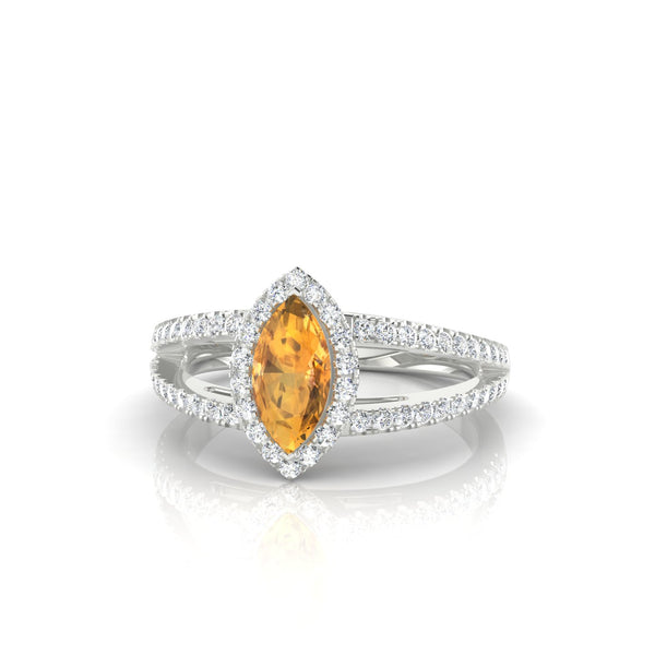 Prodige Citrine | Marquise 8 x 4 mm Argent 925