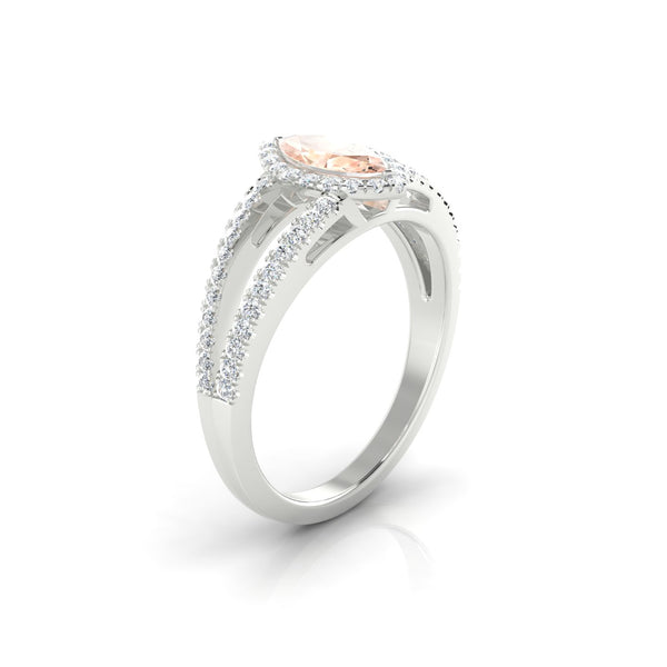 Prodige Morganite | Marquise 8 x 4 mm Argent 925