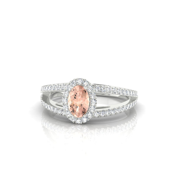 Prodige Morganite | Ovale 6 x 4 mm Argent 925