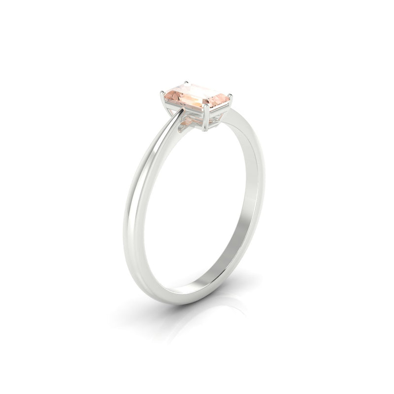 Reverse Morganite | Emeraude 6 x 4 mm Argent 925
